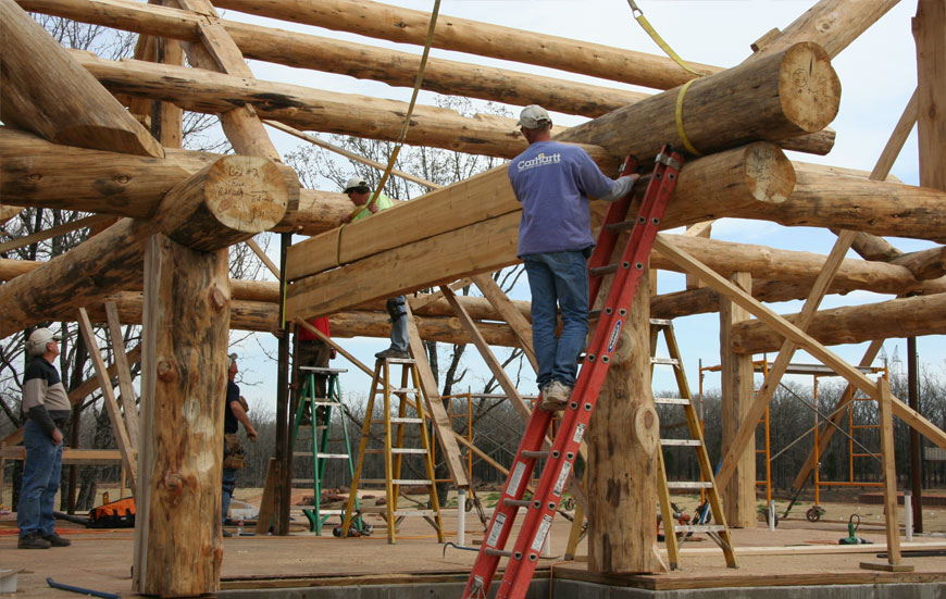 Log home crafting construction southwest homes